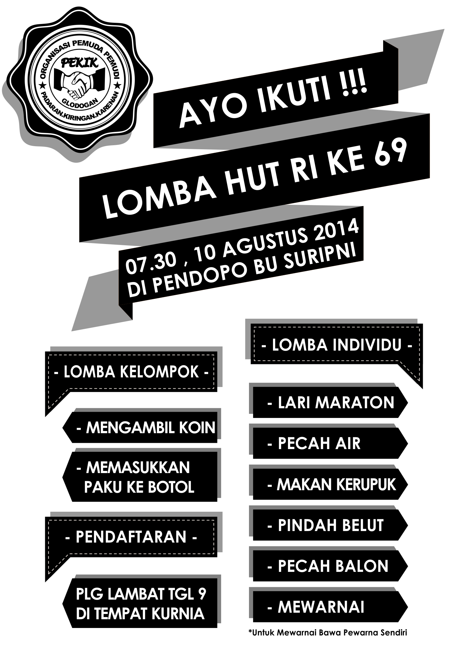 POSTER LOMBA 17an 2014