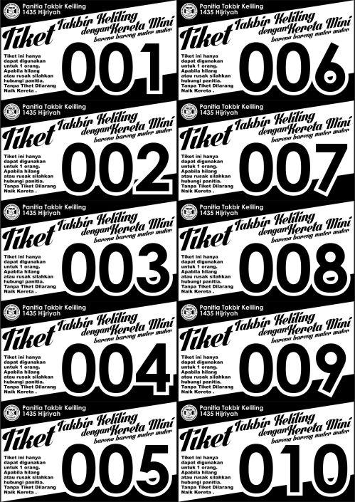 Tiket 1 Takbir 2014